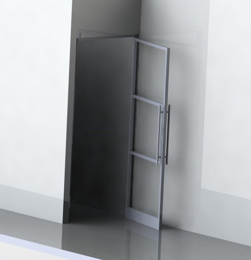 Stalen deur 3-d ontwerp