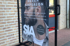Reclame staander Sia hairdesign